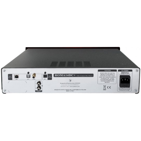 Synthesis Roma 14DC+ Tube Compact Disc Player with Digital Inputs