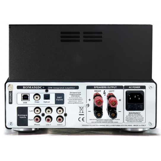 Synthesis Roma 96DC+ 25W Pure A Class Integrated Stereo Amplifier with Digital Inputs
