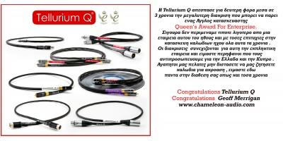 Tellurium Q double Queen's Award For Enterprise award