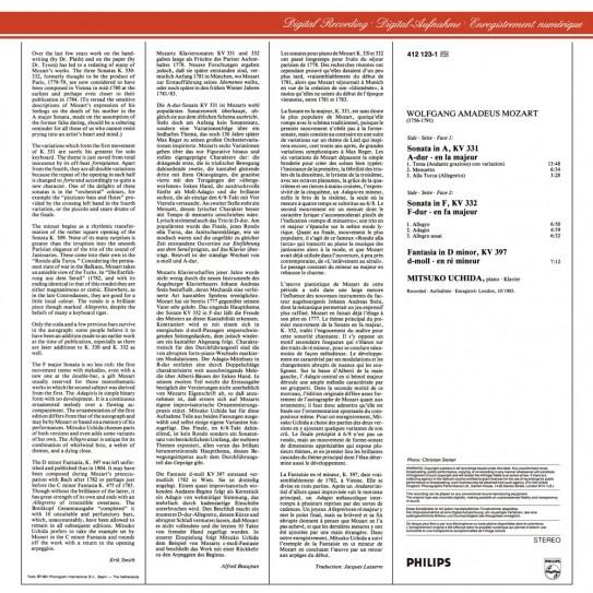 Analogphonic Mozart — Piano Sonatas KV 331 & 332