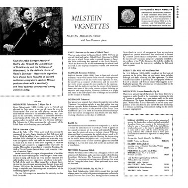 Analogphonic Nathan MIlstein - Vignettes