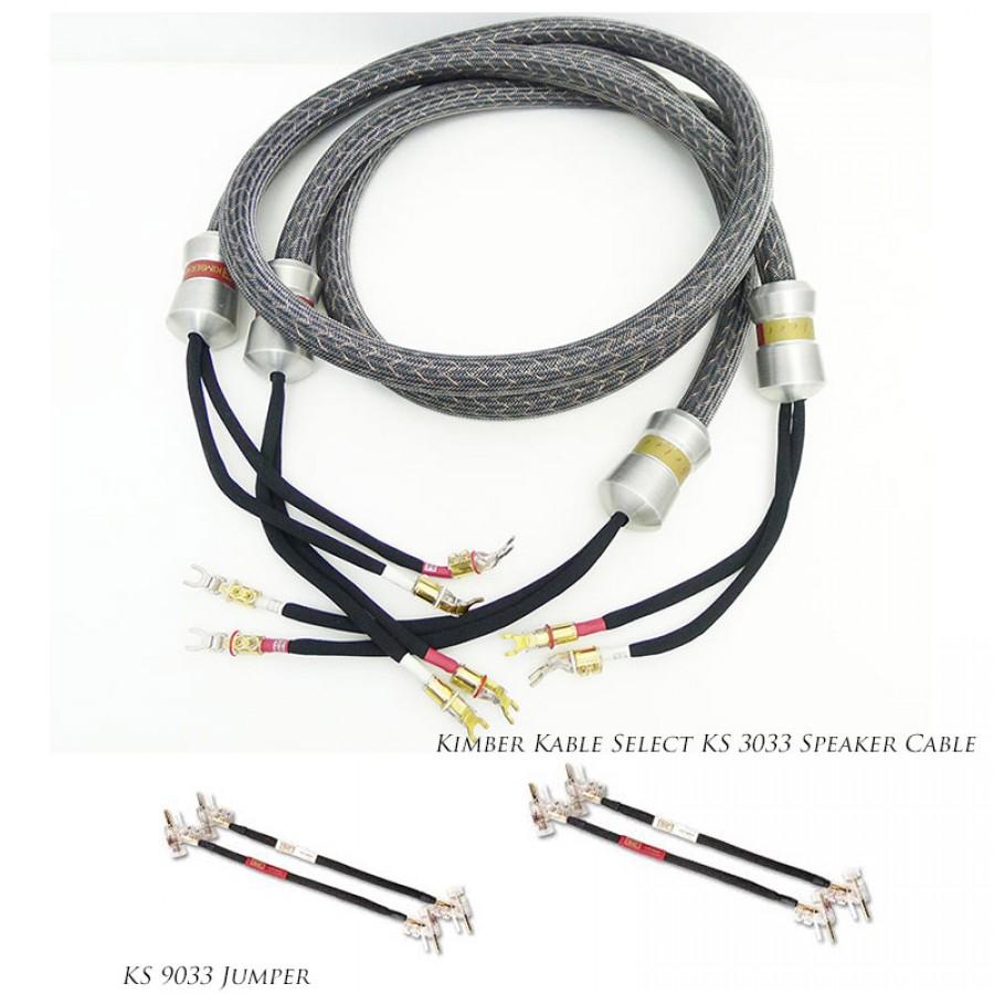 Kimber Kable Select KS 3033 Speaker Cable+ KS9033 Jumpers